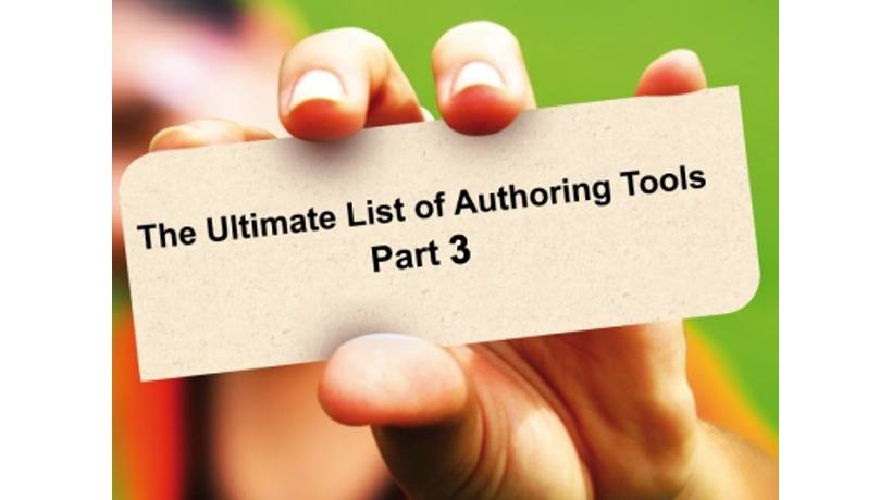 List Of Authoring Tools: Part 3
