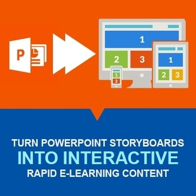 Turn PowerPoint Storyboards into Interactive Rapid e-Learning Content