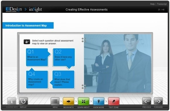 Introduce a new learning aid (Assessment Map) and the value it brings in.