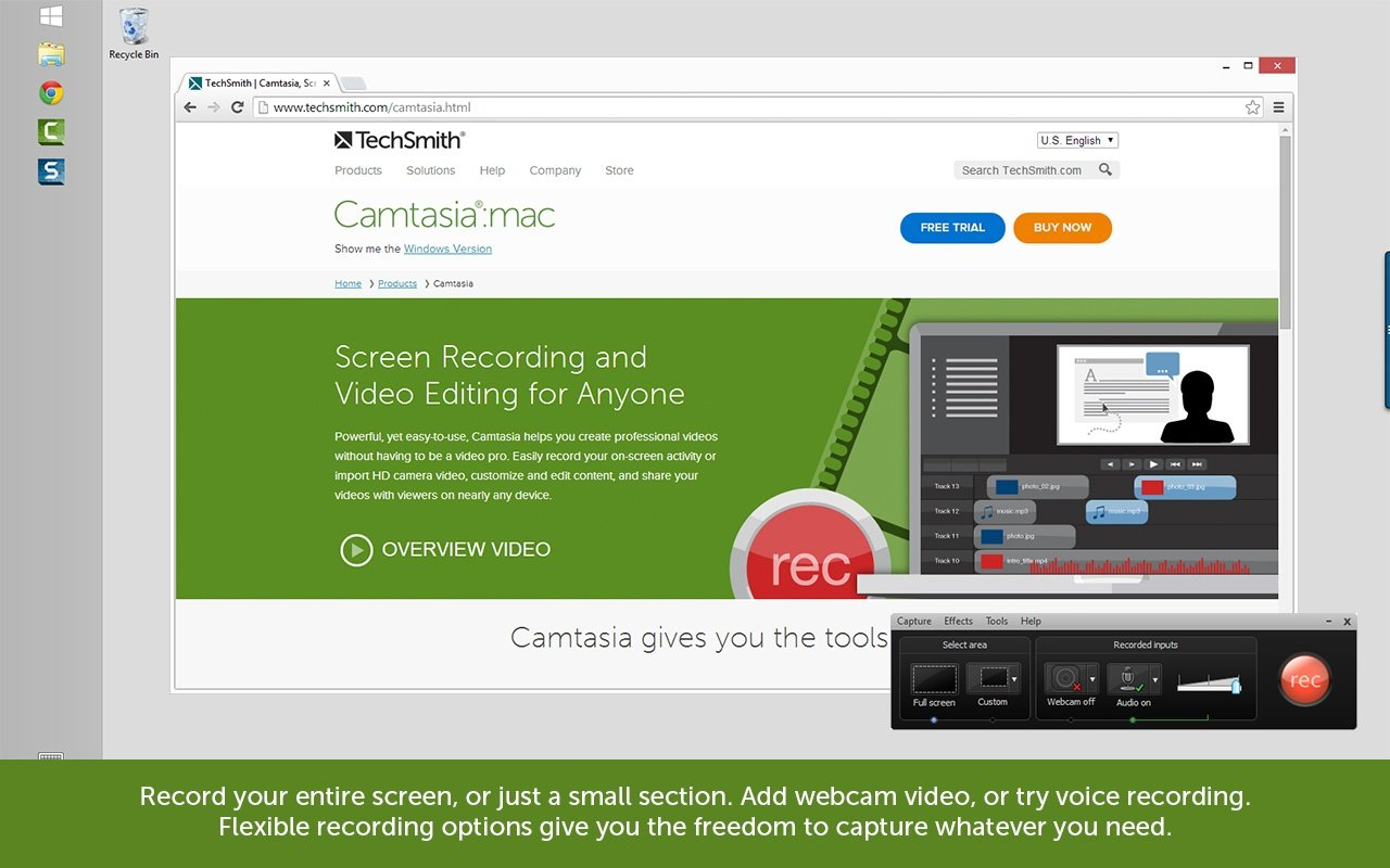 14 Free Camtasia Studio 8 Video Tutorials About Audio, Captions, Interaction, and Other Concepts