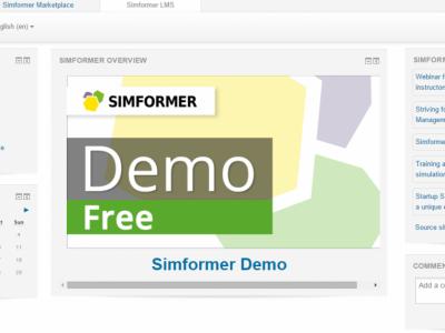 Screenshot of Simformer LMS