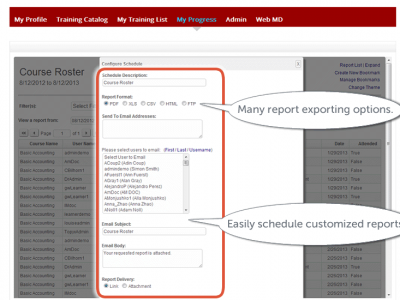 Screenshot of TOPYX LMS