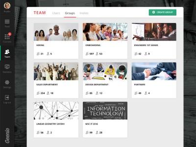 Screenshot of Geenio LMS