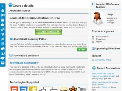 Screenshot of JoomlaLMS