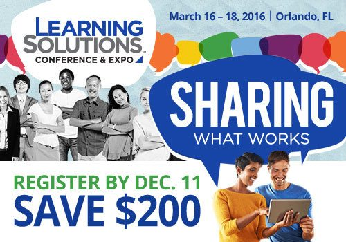 Learning Solutions 2016: The Event For Training And Learning Professionals - Save $200 Today!