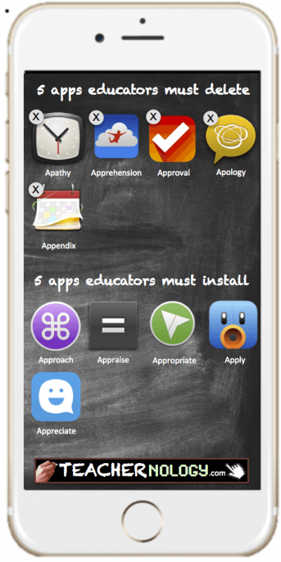 Here are 5 apps educators must never user and 5 apps they can't survive without.