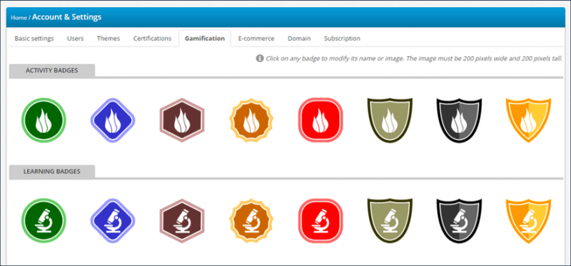 Gamification and TalentLMS: activity learning badges