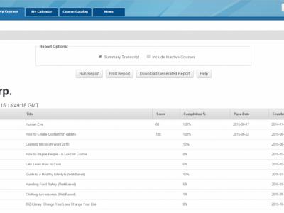 Screenshot of CourseMill