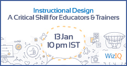 "Free Webinar: Instructional Design - ""A Critical Skill For Educators And Trainers"""