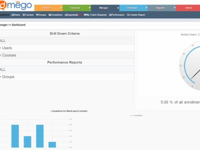 Screenshot of Edmego Learning Management System