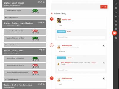 Screenshot of Classe365