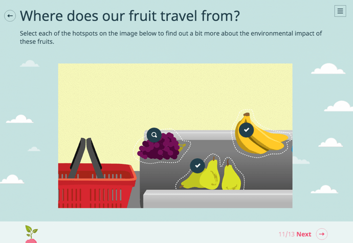 fruit scenario elearning example