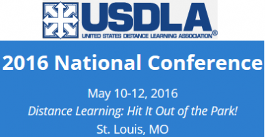 """USDLA 2016 National Conference """"Distance Learning: Hit It Out of the Park!"""""""