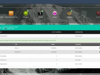 Screenshot of Buaus LMS