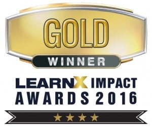 G-Cube Wins Two Golds At The LearnX Impact Awards 2016