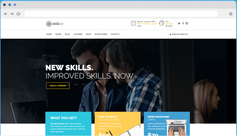 Skilled WordPress LMS Theme