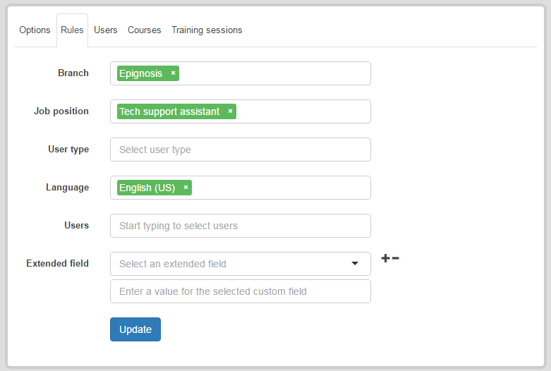 Manage your users with Audiences feature in eFrontPro
