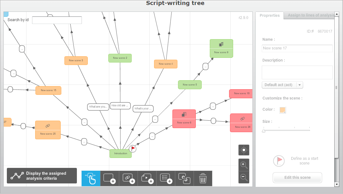 ITyStudio features: scenario tree