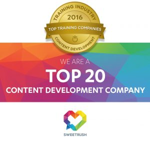 SweetRush Recognized As Top 20 Content Development Company