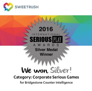 SweetRush Wins A Silver Award In The International Serious Play Competition