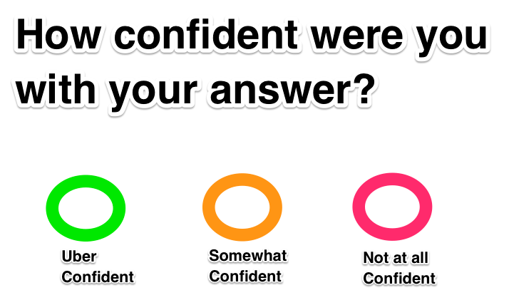 Example of a confidence scale