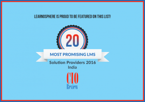 Learnosphere Among Top 20 Most Promising LMS Solution Providers For 2016