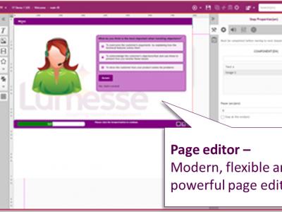 Screenshot of Lumesse CourseBuilder