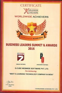 G-Cube Receives The Honour Of The Best e-Learning Technology Company