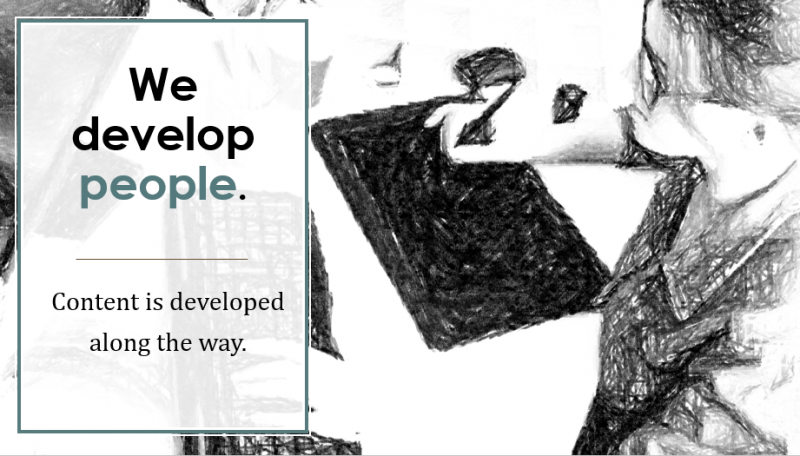 we develop people content is developed along the way