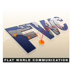 Flat World Communication LLC logo