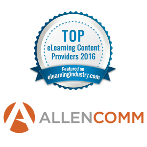 AllenComm On eLearning Industry's Top 10 Content Development List