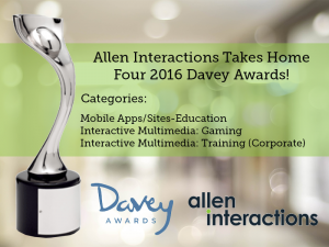 Allen Interactions Takes Home Four 2016 International Davey Awards
