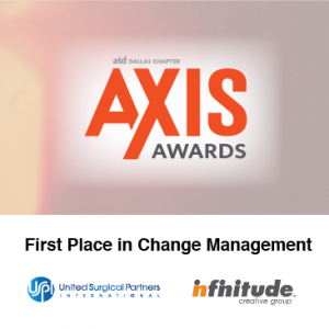 USPI And Infinitude Win First Place At 2016 ATD Dallas AXIS Awards
