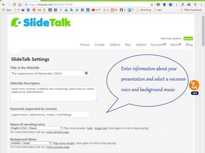 Screenshot of SlideTalk