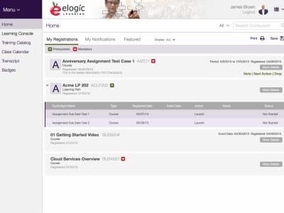 Screenshot of eSSential LMS