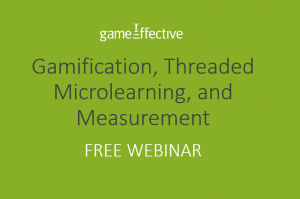Gamification, Threaded Microlearning And Measurement
