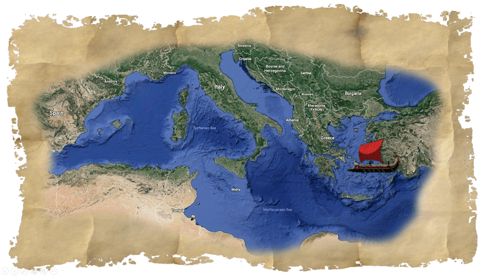 11 steps to create an interactive timeline or map with powerpoint the result was this map of the mediterranean sea gumiabroncs Choice Image