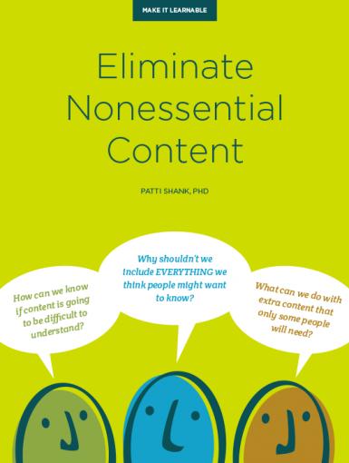 Eliminate Nonessential Content