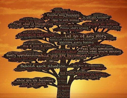 Image of tree with words