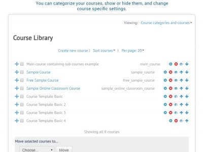 Screenshot of ScholarLMS