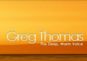 Greg Thomas, The Deep, Warm Voice logo