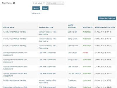 Screenshot of NexusComply Solution