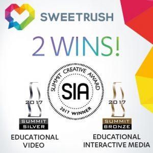 SweetRush Wins Two Summit Creative Awards®