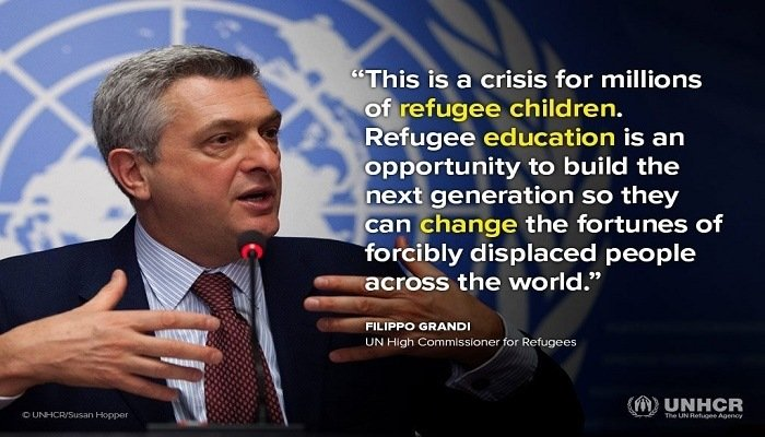 Refugee Education--Credit: Filippo Grandi (U.N)