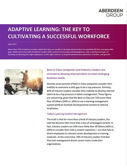 Free Ebook: Adaptive Learning: The Key To Cultivating a Successful Workforce