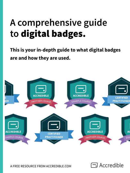 Free Ebook: Get the free eBook A Comprehensive Guide To Digital Badges, by Accredible