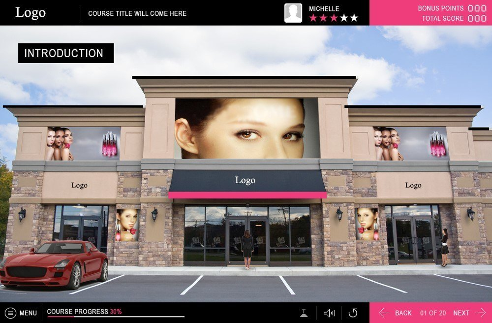 EI Design - Gamified Product Training for Cosmetics Retail employees