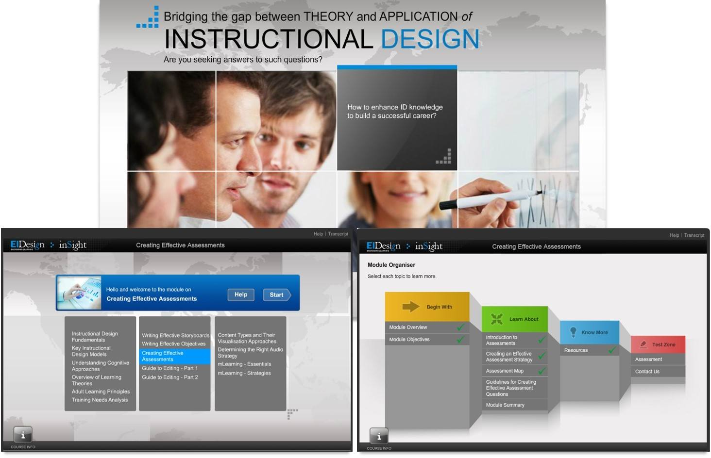 Traditional eLearning course - Before Sample
