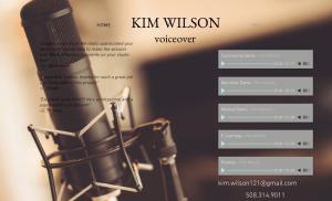 Kim Wilson Voiceovers logo