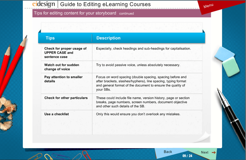 traditional page turner eLearning course - Sample-2